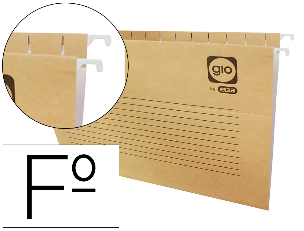 CARPETA COLGANTE GIO FOLIO PROLONGADO 43200 240X375 MM