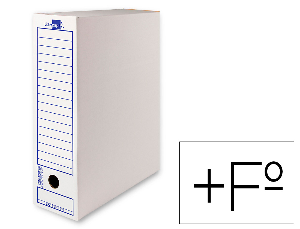 CAJA ARCHIVO DEFINITIVO LIDERPAPEL 105 FOLIO PROLONGADO