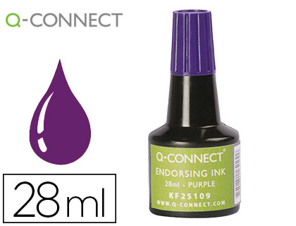 TINTA TAMPON Q-CONNECT VIOLETA FRASCO 28 ML