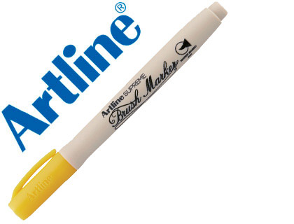 ROTULADOR ARTLINE SUPREME BRUSH PINTURA BASE DE AGUA PUNTA TIPO PINCEL TRAZO VARIABLE AMARILLO