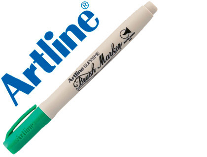 ROTULADOR ARTLINE SUPREME BRUSH PINTURA BASE DE AGUA PUNTA TIPO PINCEL TRAZO VARIABLE VERDE