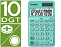 CALCULADORA CASIO SL-310UC-GN BOLSILLO 10 DIGITOS TAX +/- TECLA DOBLE CERO COLOR VERDE