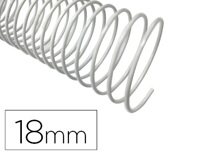 ESPIRAL METALICO Q-CONNECT BLANCO 64 5:1 18MM 1,2MM CAJA DE 100 UNIDADES