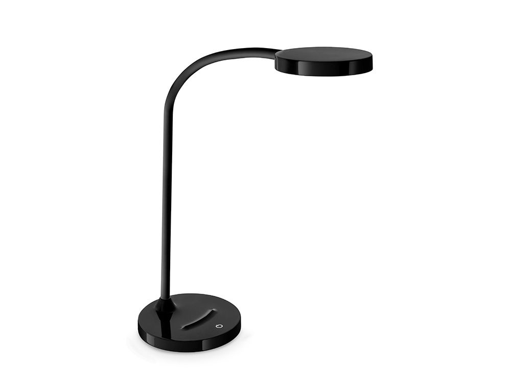 LAMPARA DE OFICINA CEP FLEX PLASTICO LED DE 4W BRAZO FLEXIBLE TACTIL COLOR NEGRO 160X600 MM