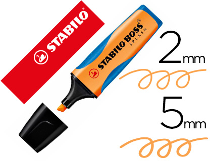 ROTULADOR STABILO BOSS SPLASH GRIP FLUORESCENTE 75/54 NARANJA
