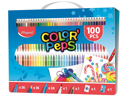 ESTUCHE PINTURA MAPED COLOR PEPS KIT 100 PIEZAS SURTIDAS