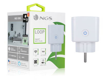 ENCHUFE NGS SMART WIFI 2,4 GHZ PLUG LOOP MAXIMO 16A POTENCIA SALIDA 3680W