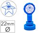 SELLO ARTLINE EMOTICONO ESTRELLA TRISTE COLOR AZUL 22 MM DIAMETRO