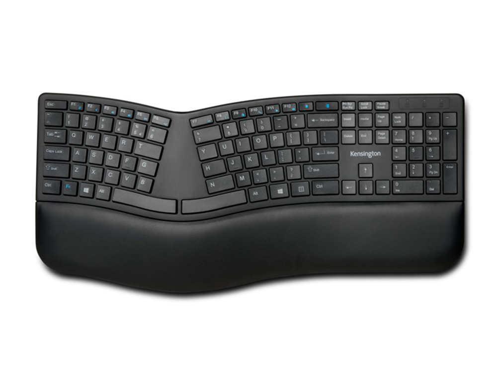 TECLADO KENSINGTON INALAMBRICO PRO FIT ERGO COLOR NEGRO 252X482X38 MM
