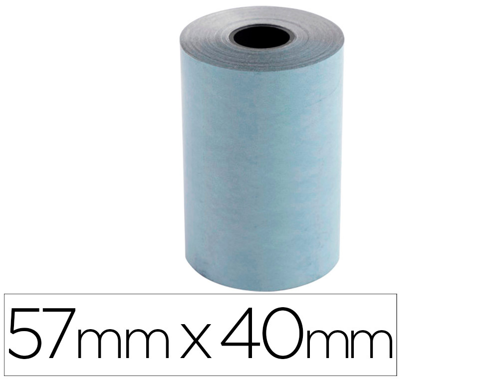 ROLLO SUMADORA EXACOMPTA SAFE CONTACT TERMICO 57 MM X 40 MM 52 G/M2