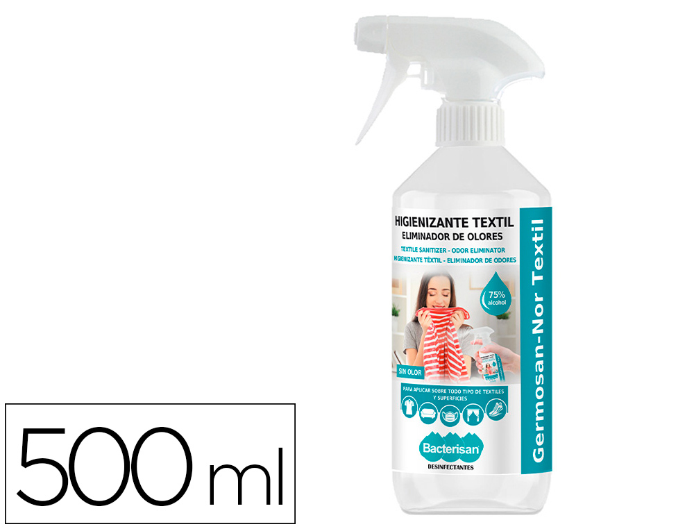 DESINFECTANTE BACTERISAN GERMOSAN-NOR BP7 VIRUCIDA PARA TEXTIL BOTE PULVERIZADOR DE 500 ML