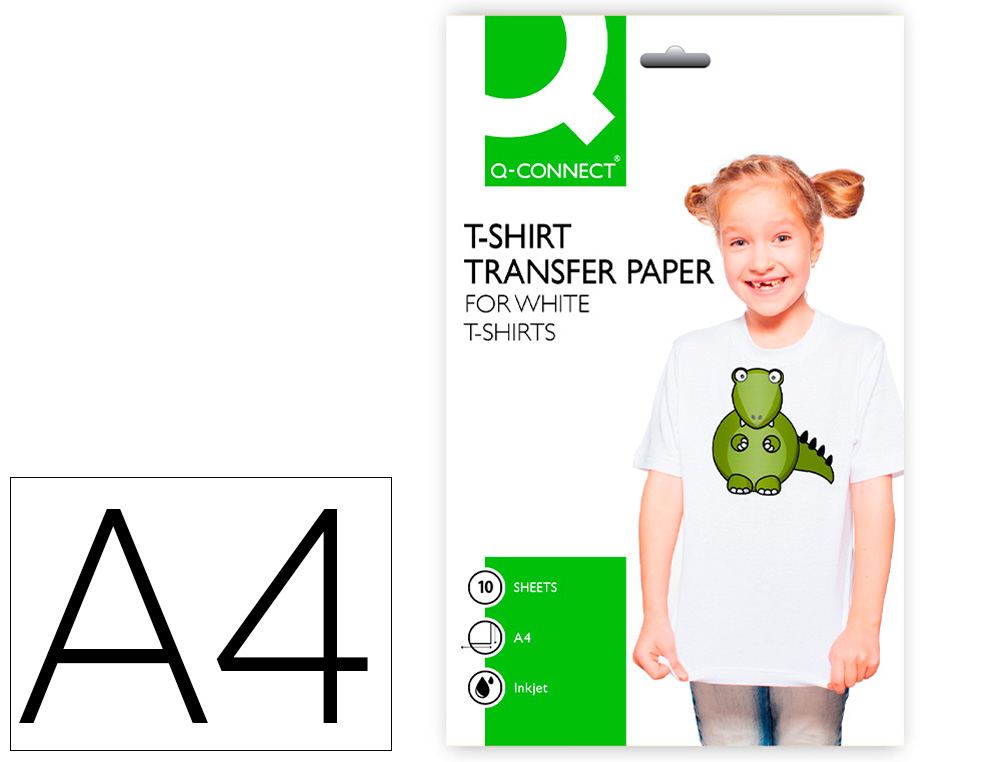 Papel q connect transferencia para tela kf 01430 din a4 - Papel de transferencia para plancha ...