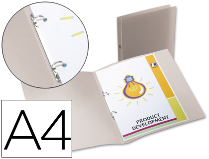 CARPETA LIDERPAPEL 2 ANILLAS REDONDAS MINI 15 MM 49074 POLIPROPILENO DIN A4 TRANSPARENTE