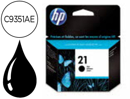 INK-JET HP N.21 NEGRO -5ML- DJ 3920/3940/D2360/F380 PSC 1410