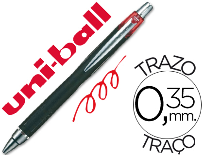 BOLIGRAFO UNI-BALL JETSTRAM SXN-210 RETRACTIL COLOR ROJO