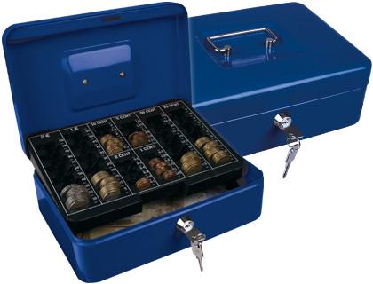 Caja caudales q connect 10 250x180x90 mm azul con for Caja de caudales