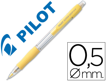LAPISEIRA PILOT SUPER GRIP AMARELO 0,5 MM COM GRIP