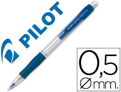 LAPISEIRA PILOT SUPER GRIP AZUL 0,5 MM COM GRIP