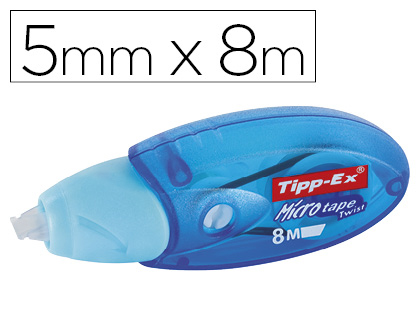 CORRECTOR TIPP-EX MICRO TAPE TWIST 5 MM X 8 MT