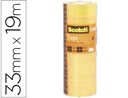 CINTA ADHESIVA SCOTCH ACORDEON PACK 8 508 19X33 MM