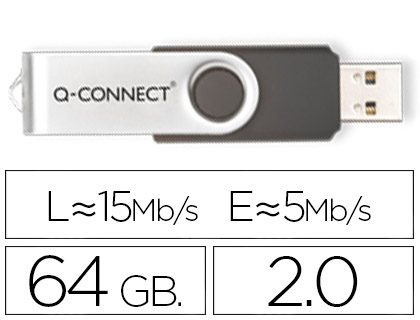 MEMORIA USB Q-CONNECT FLASH 64 GB 2.0