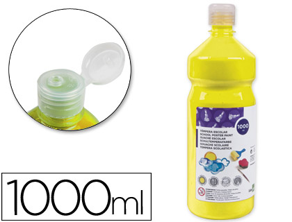 TEMPERA LIQUIDA LIDERPAPEL ESCOLAR 1000 ML AMARILLO
