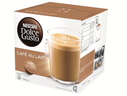 cafe dolce gusto cafe con leche monodosis caja de 16. Black Bedroom Furniture Sets. Home Design Ideas