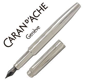 PLUMA CARAN D'ACHE RNX-316 PVD STEEL VERSION GRABADO GUILLOCHE PUNTA MEDIA