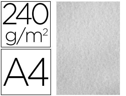 Papel De Cor Liderpapel Pergaminho A4 240gr Cinza Pack De 25