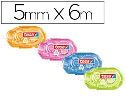 CORRECTOR TESA CINTA MINI 5 MM X 6 MT