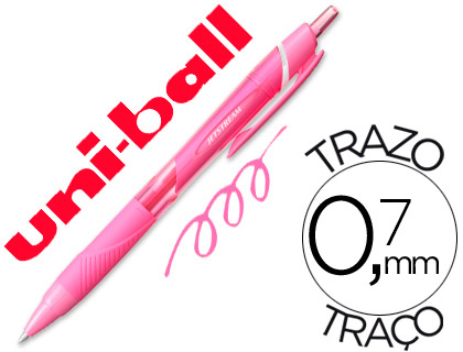 boligrafo-uni-ball-roller-jetstream-sxn157c-retractil-07-mm-color-rosa