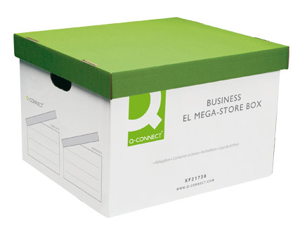 CAJON Q-CONNECT CARTON PARA 4 CAJAS ARCHIVO DEFINITIVO FOLIO MONTAJE AUTOMATICO MEDIDAS INTERIOR 295X383X430MM