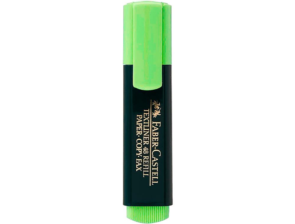 Rotulador faber fluorescente 48-63 verde