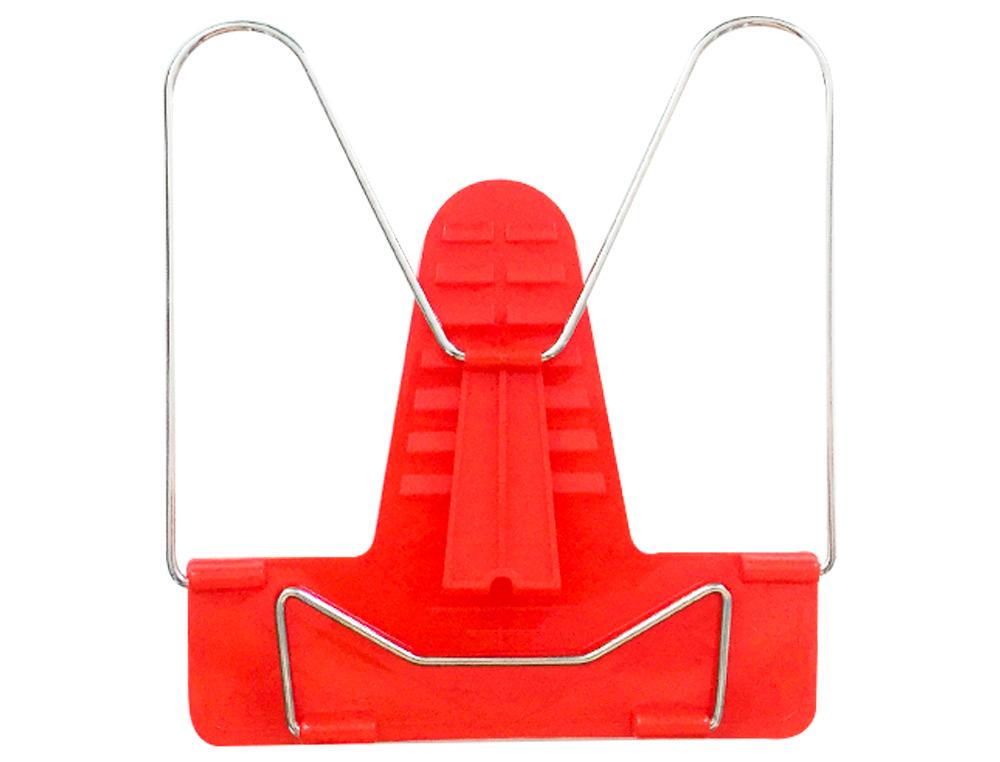 Atril liderpapel base plastico angulo ajustable soporte parte posterior 190x215 mm color rojo