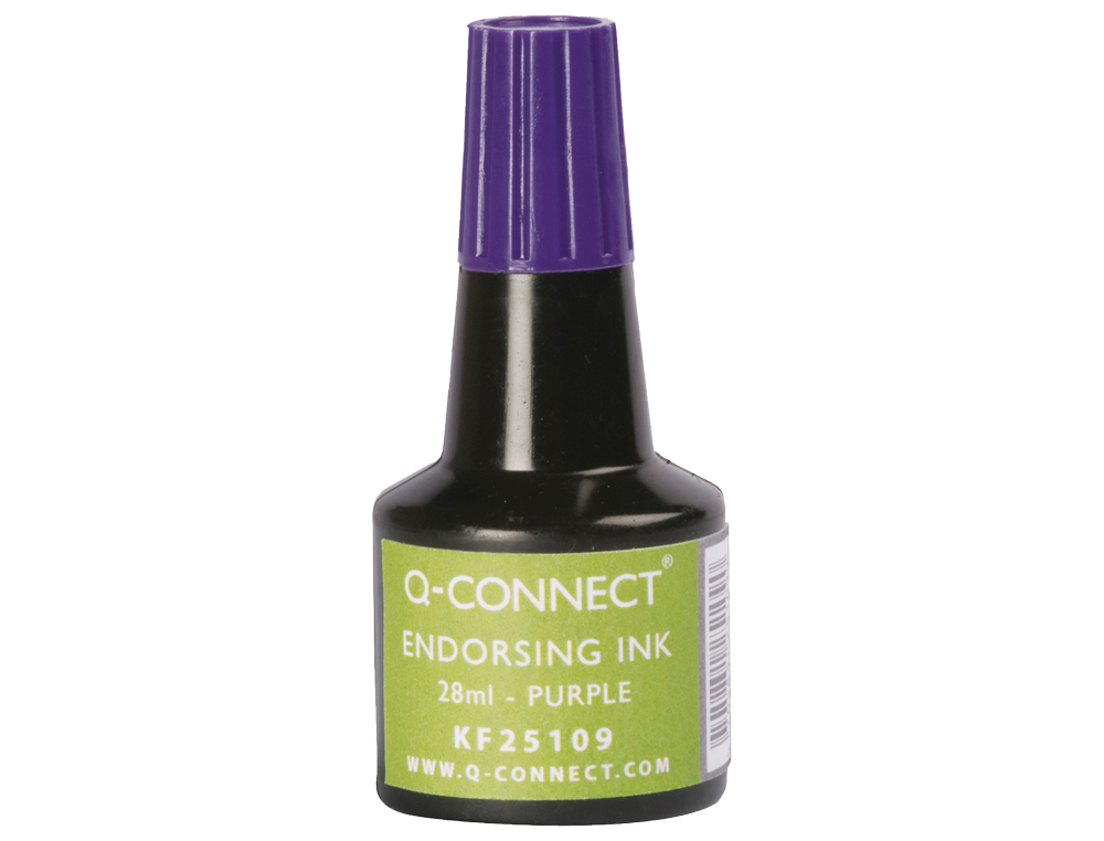 Tinta tampon q-connect violeta frasco 28 ml