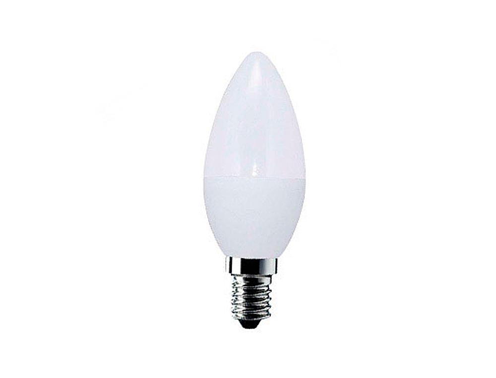 Bombilla sunmatic led mini globo frost smd e14 6w 4200k 470 lumenes luz blanca