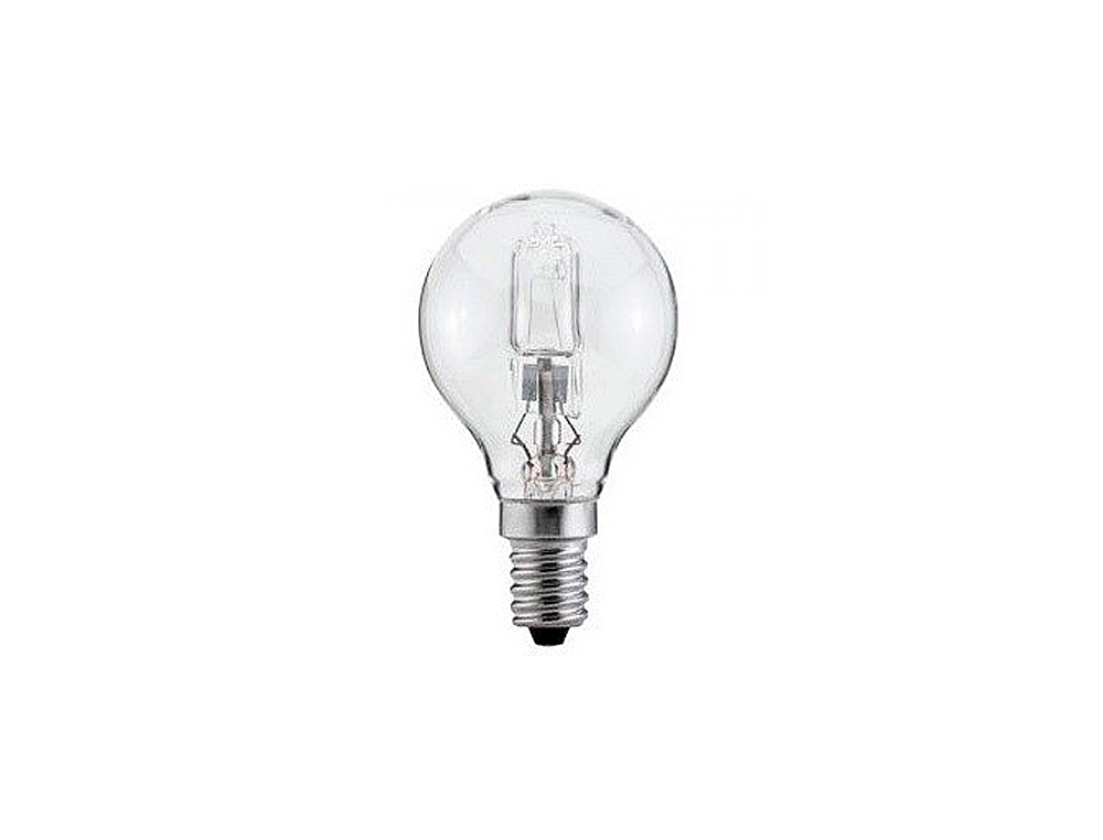 Bombilla sunmatic eco halogena mini globo e14 42w 630 lumenes 2000 horas luz blanca