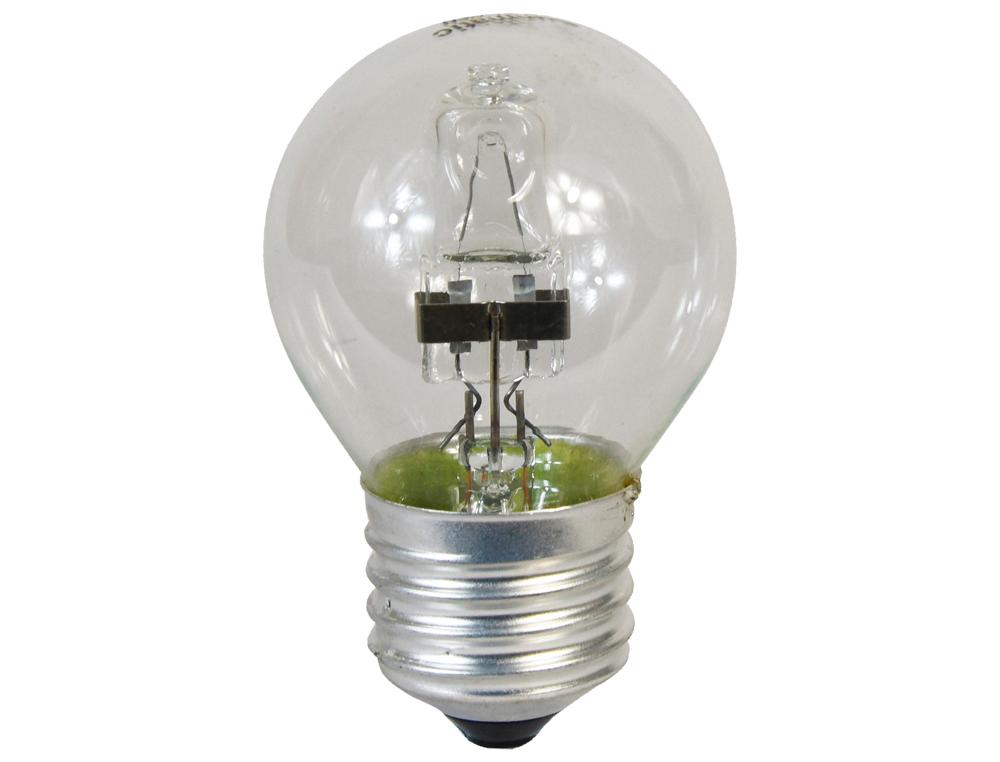 Bombilla sunmatic eco halogena mini globo e27 28w 375 lumenes 2000 horas luz blanca