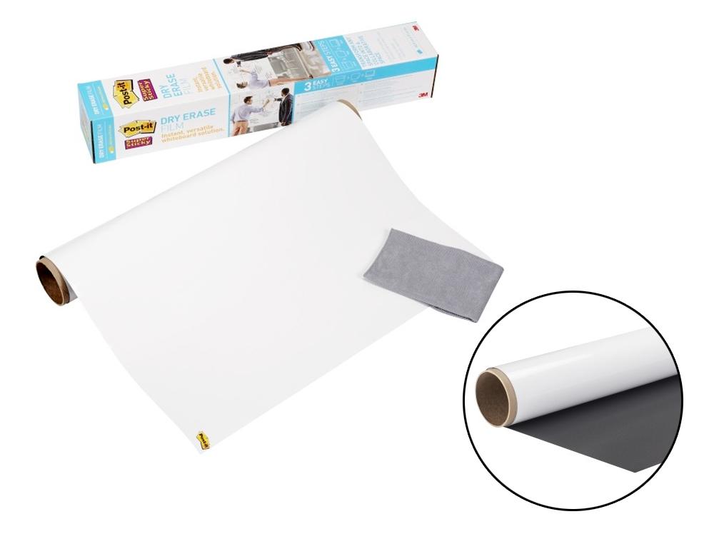 Pizarra blanca post it super sticky rollo adhesivo removible 91,4x121,9 cm