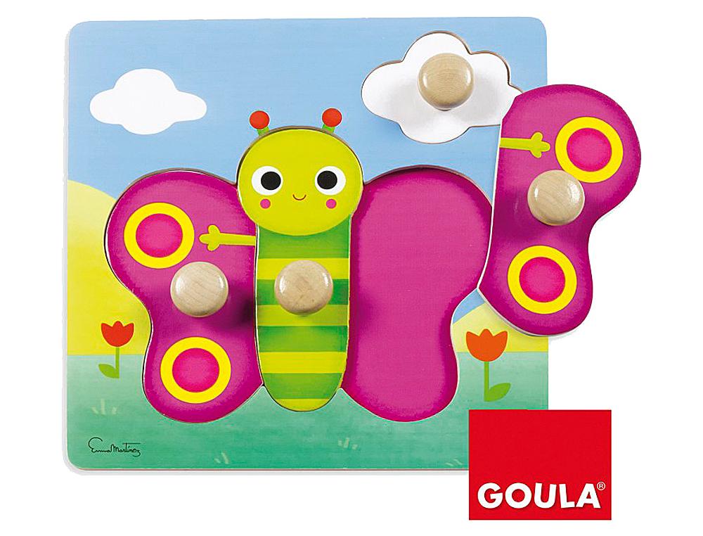 Juego goula didactico puzzle mariposa