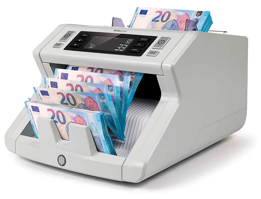 Contador de billetes safescan 2210 deteccion ultravioleta y tamaño velocidad 1000 billetes/minuto co