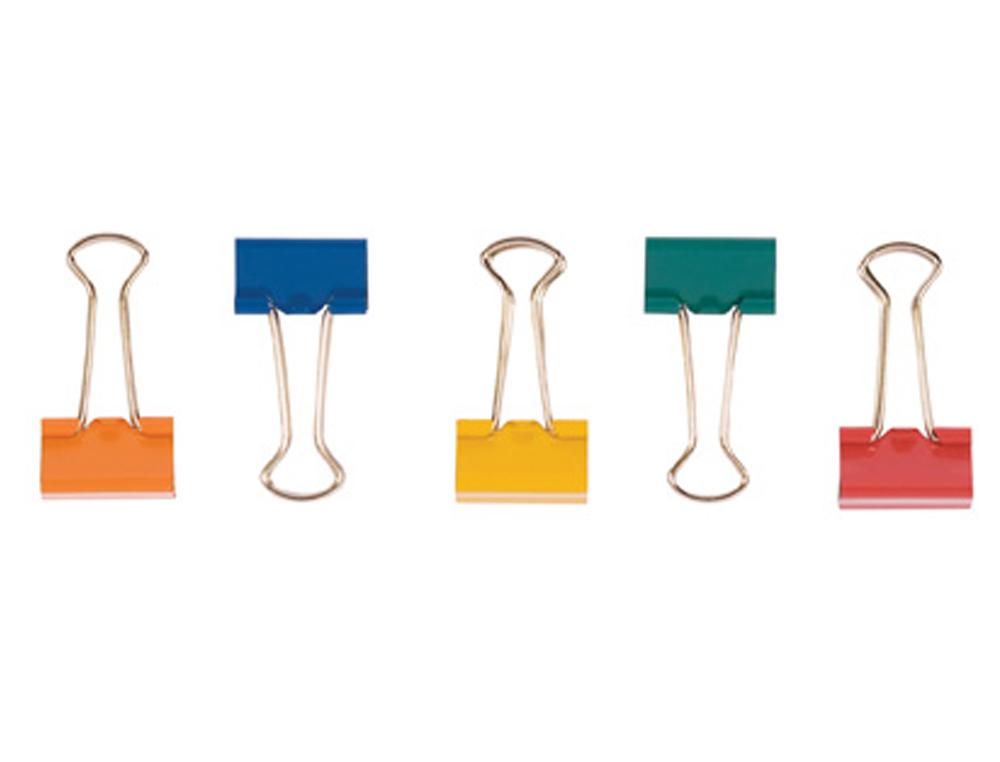 Pinza metalica q-connect reversible n.2 24 mm caja de 10 unidades colores surtidos