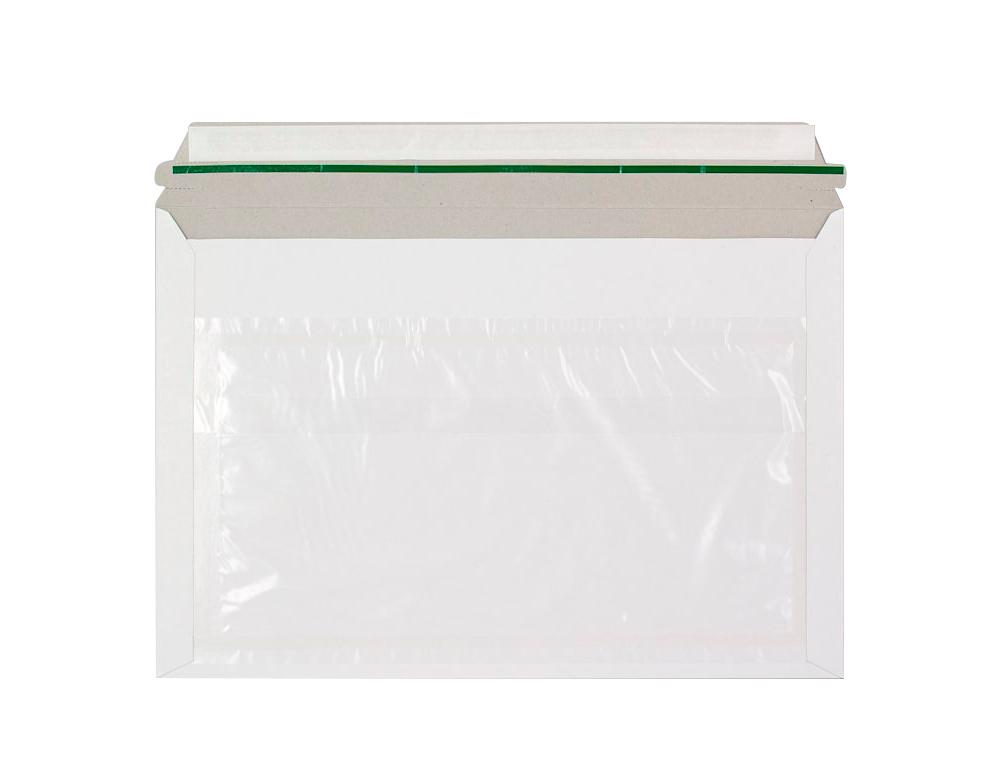 Sobre autoadhesivo q-connect portadocumentos 310x230 mm ventana transparente paquete de 100 unidades