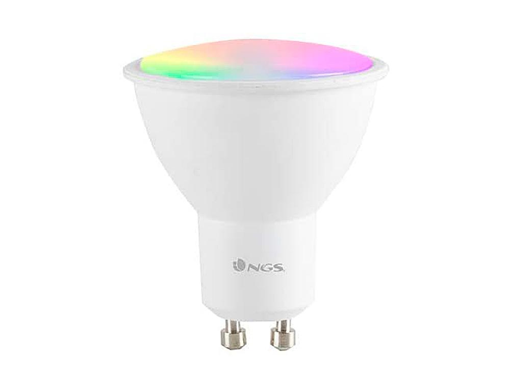Bombilla ngs bulb wifi led gleam 510c halogena colores 5w 460 lumenes base gu10 regulable en intesid