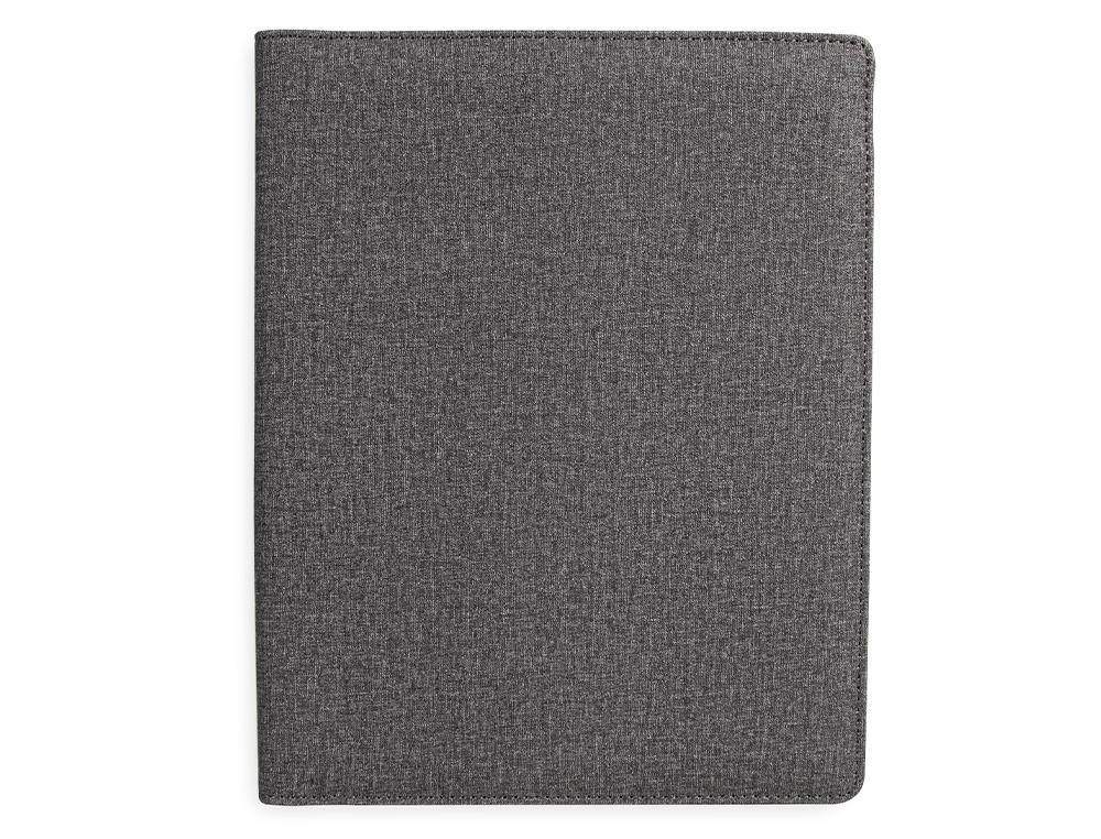 Carpeta portafolios q-connect a4 con calculadora bloc 20 hojas y departamentos interiores color gris