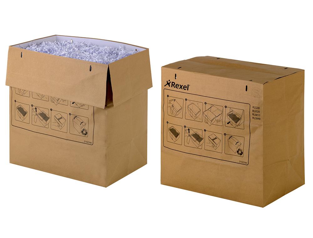 Bolsa de residuos rexel reciclable para destructora auto+ 750x/750m capacidad 115 l pack de 50 unida