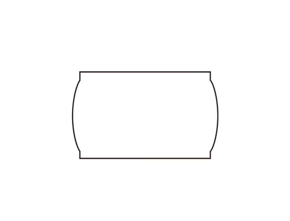 Etiquetas meto onduladas 22 x 12 mm lisa removible bl. -rollo 1500 etiquetas