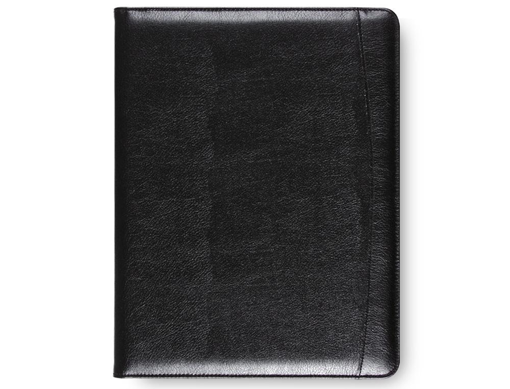 Carpeta portafolios 80-728k negra 320x250 mm sin cremallera sin asa -con departmentos interiores