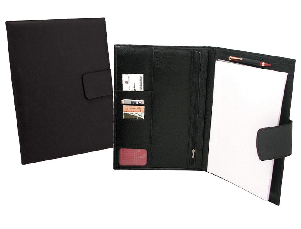 Carpeta portafolios artesania de polipiel con solapa 34,6x25x2,5 cm fabricada en ubrique