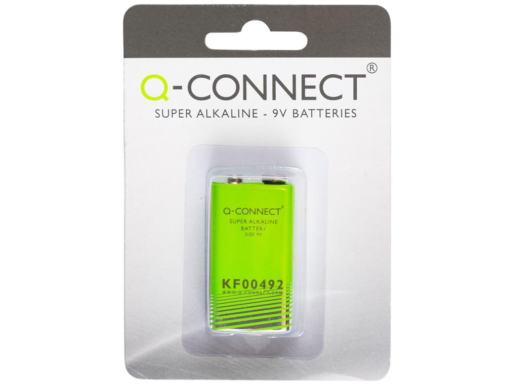 Pila q-connect alcalina 9 vol. -blister con 1 pila